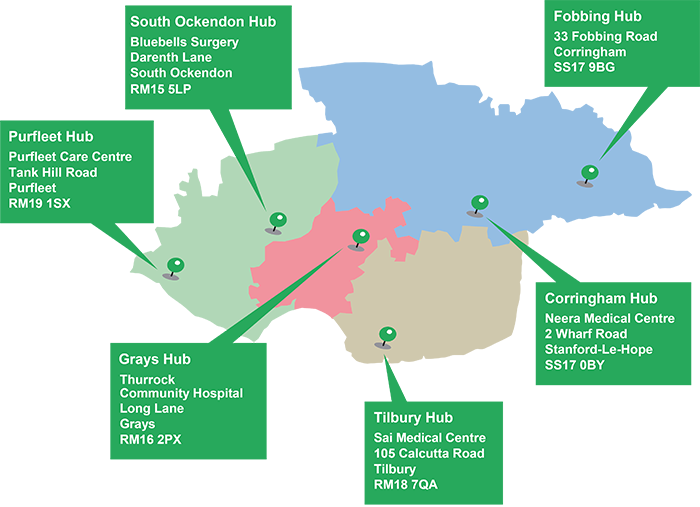 health hub map June 2019